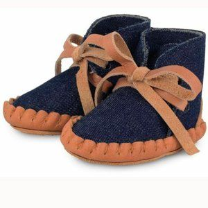 Donsje Amsterdam Pina Denim Leather Baby Shoes